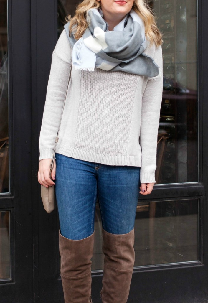 Cozy Knits and Over the knee boots