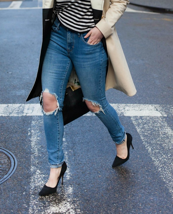 Ripped Denim and Heels