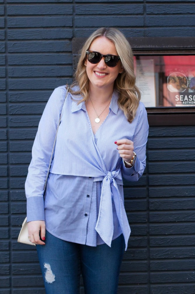 Tie Front Blouse I wit & whimsy