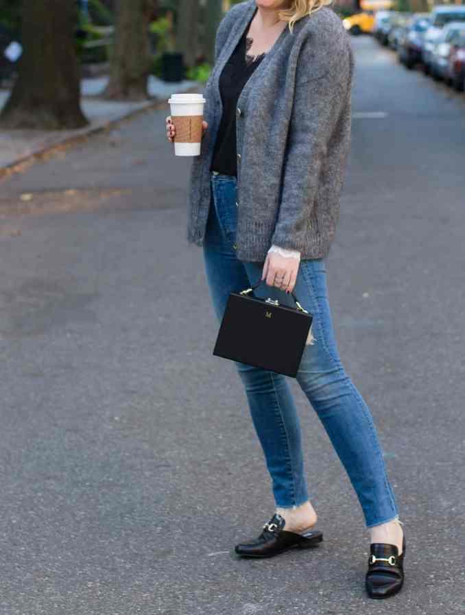 Raw Hem Jeans + Slip on Loafers