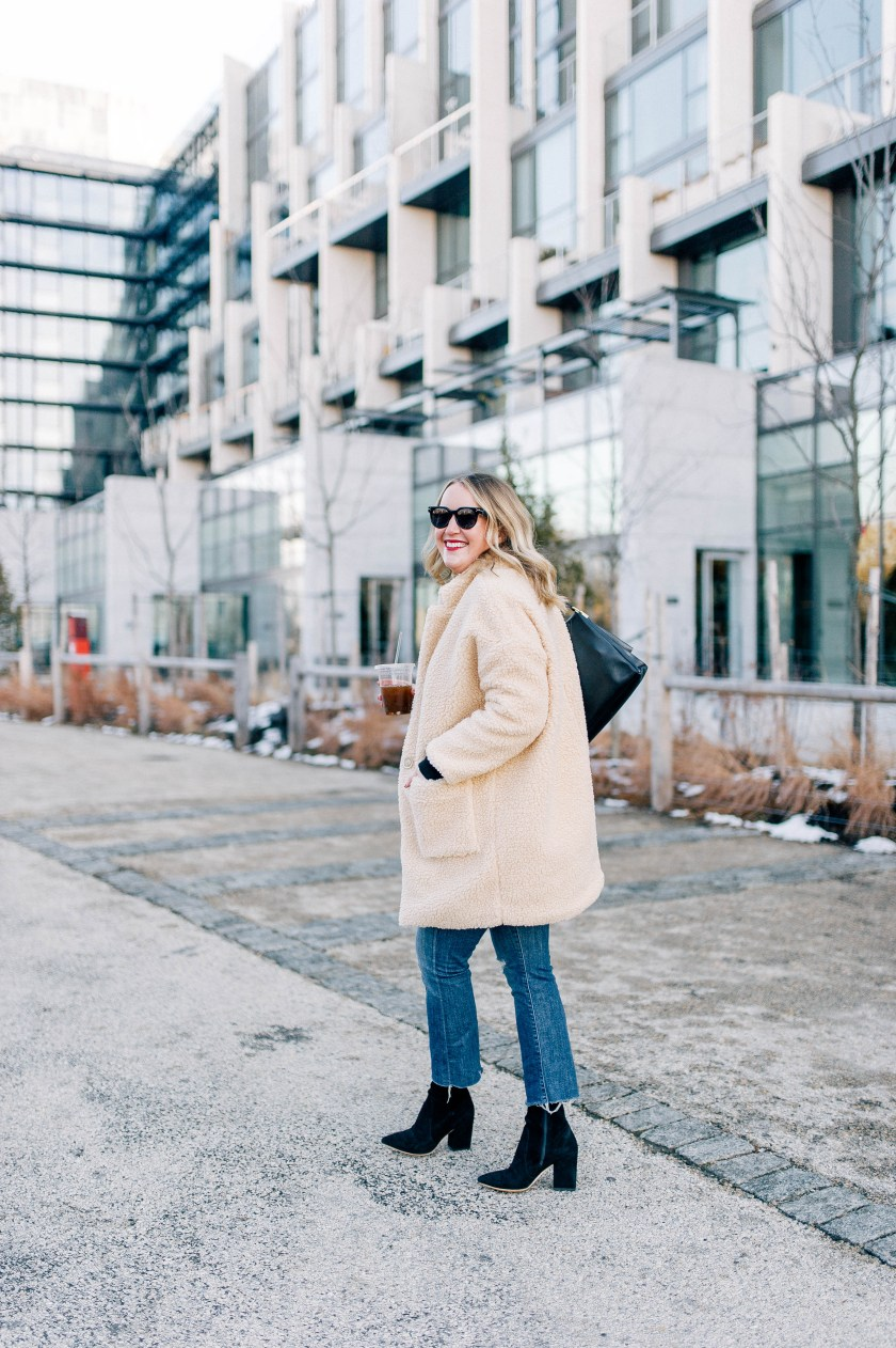 Teddy Coat and Kick Flares on Meghan Donovan of wit & whimsy 3