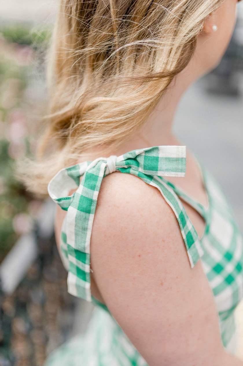 Bow Shoulder Details on Dress