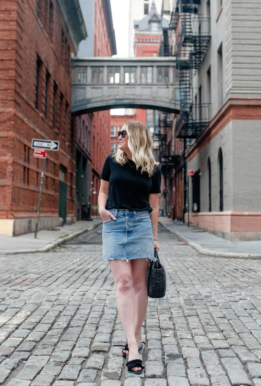 Bodysuit + Denim Skirt I wit & whimsy