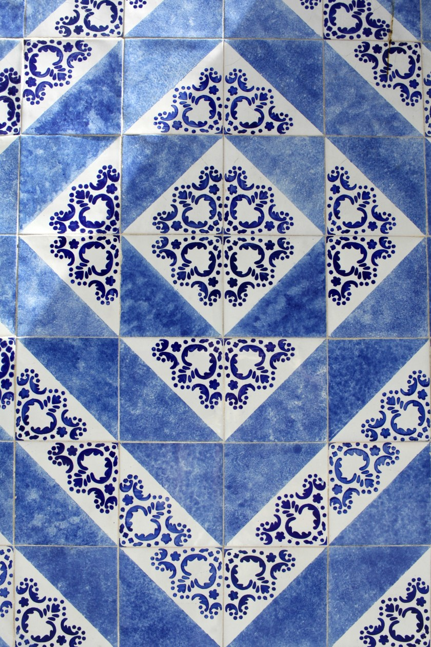Blue and White Tile in Porto, Portugal