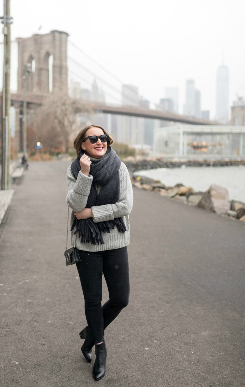 Gray Neutral Outfit I affordable winter pieces