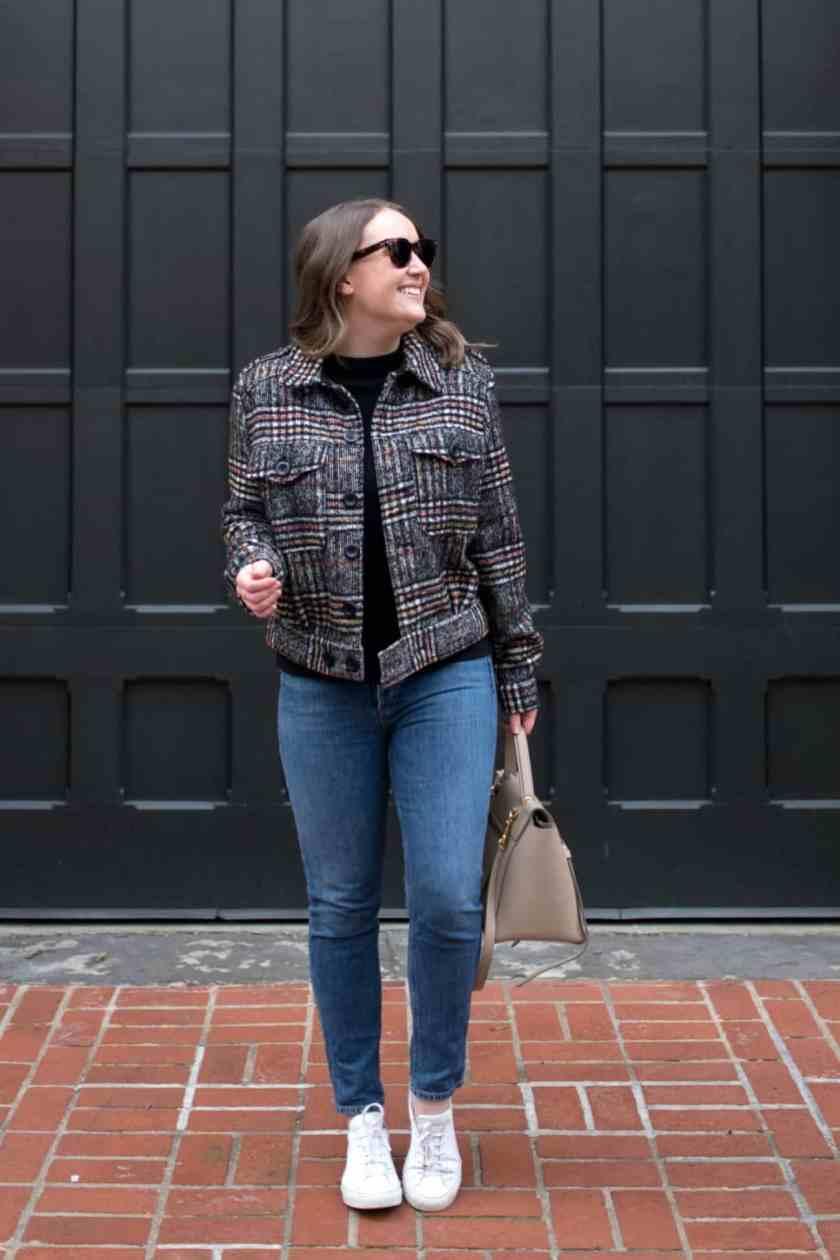 Plaid Cropped Jacket I wit & whimsy