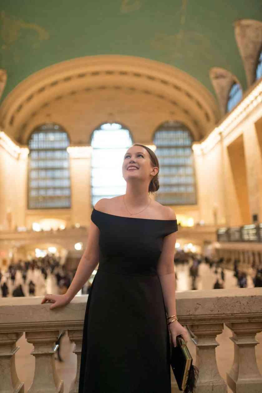 Little Black Dress in Grand Central Station I wit & whimsy