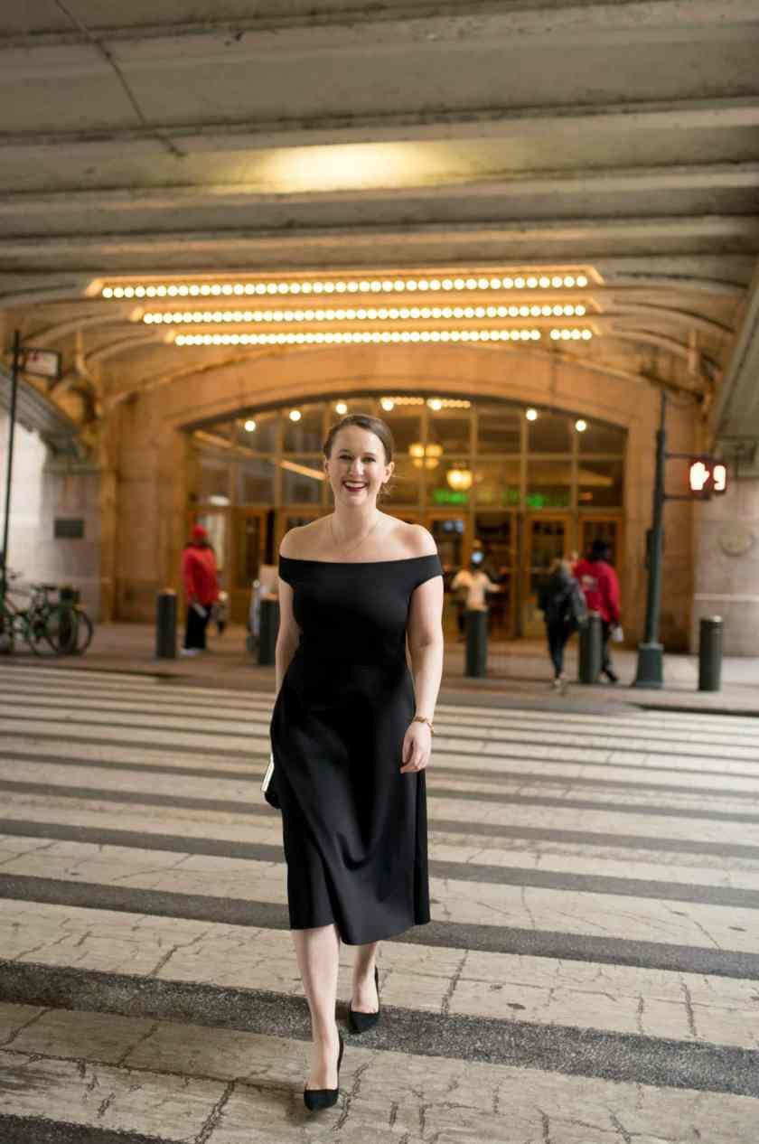 Little Black Dress at Grand Central Station I wit & whimsy