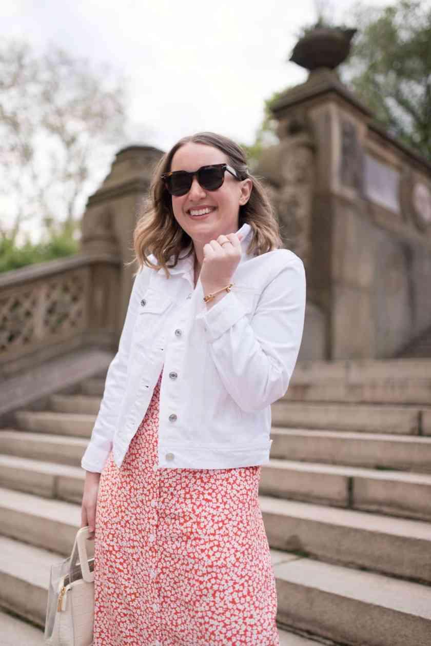 White Denim Jacket I wit & whimsy