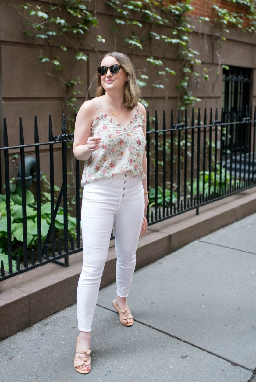 Sweater Blazer + Floral Tank I wit & whimsy