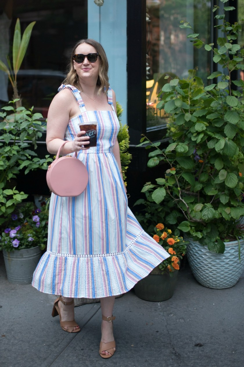 Striped Spring Dress I wit & whimsy