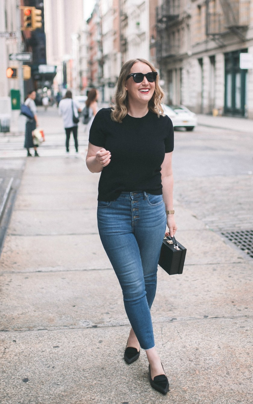 Wardrobe Favorites Under $200, Cashmere Tee + Jeans I wit & whimsy