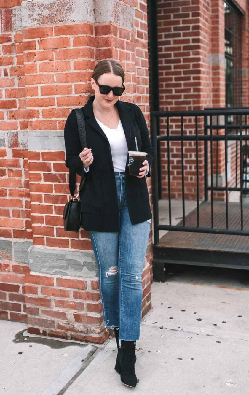Sweater Blazer + Isla Booties I wit & whimsy