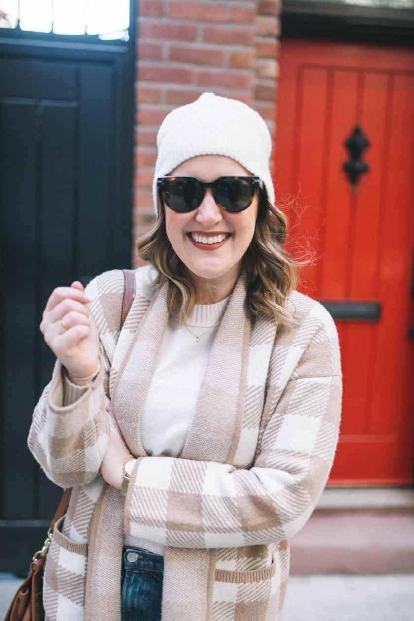 Madewell Buffalo Check Sweater Coat I wit & whimsy