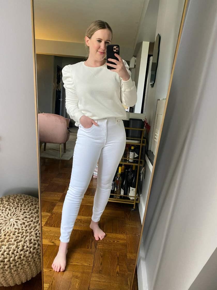 Everlane White Jeans