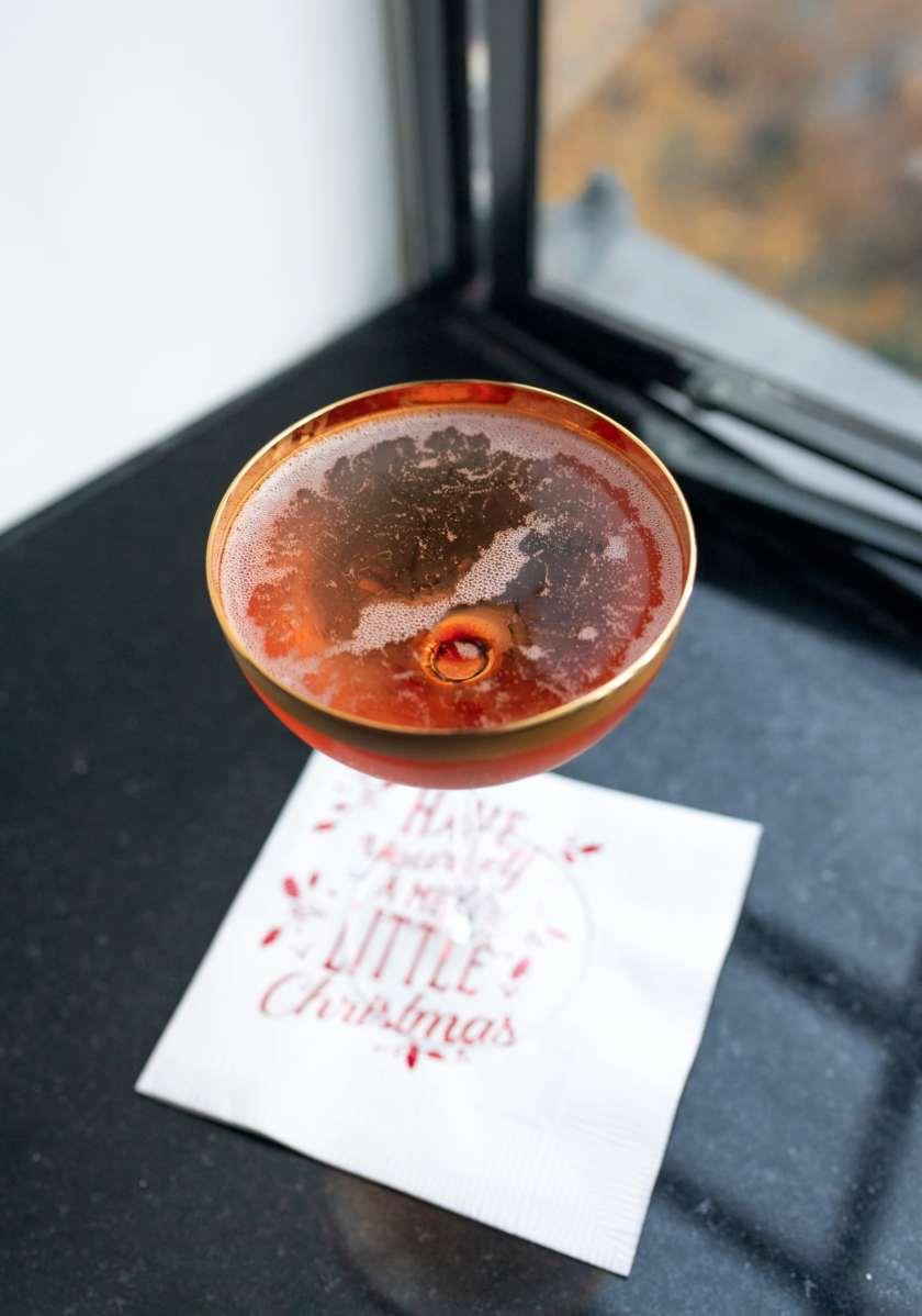 Christmas Kir Cocktail I wit & whimsy