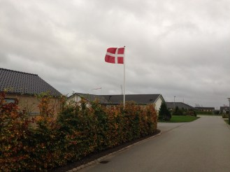 Danish flags on every block