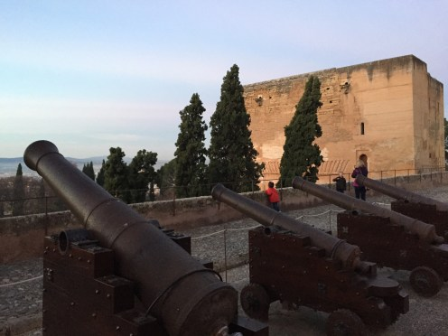 Cannons in the courtyard