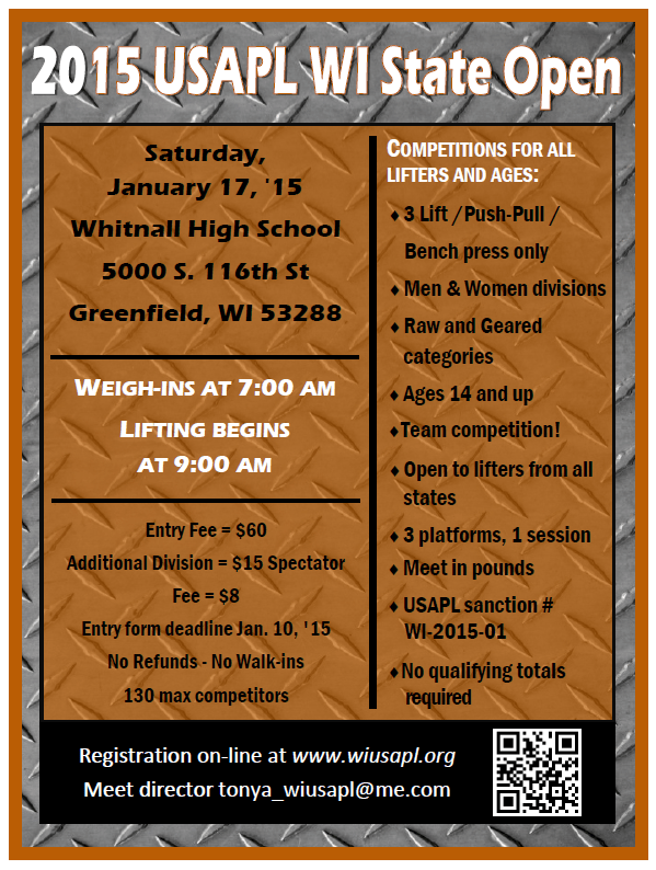 2015 WI USAPL State Open