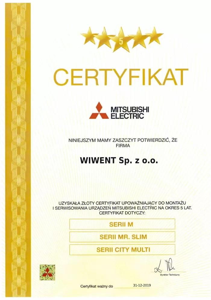 Wiwent certyfikat - Mitsubishi_Electric