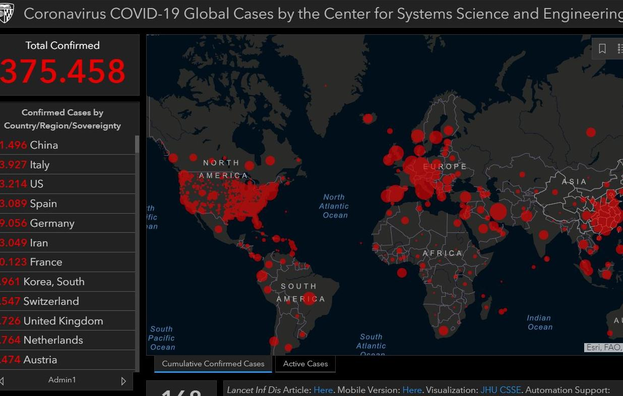 5 sites para visualizar dados em tempo real sobre o novo coronavírus