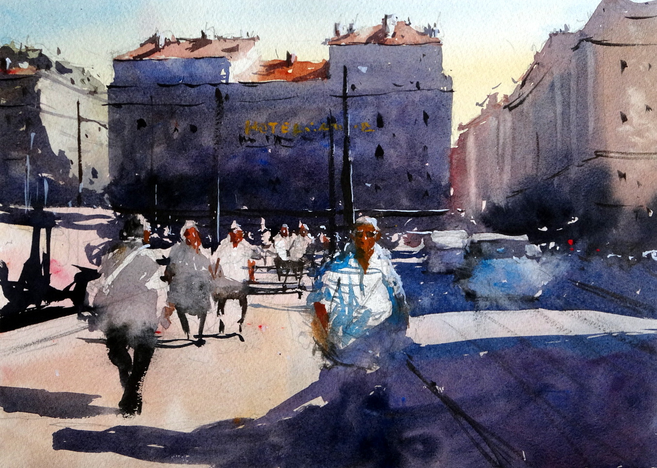 Hotel Alize Old Port Marseilles Original Watercolours By
