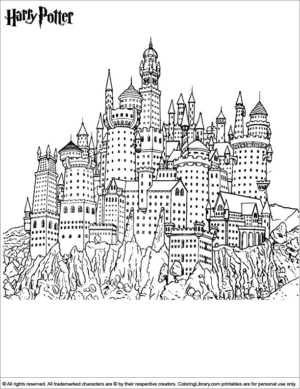 Free 22 Harry Potter Printables Coloring Sheets To Do At Home