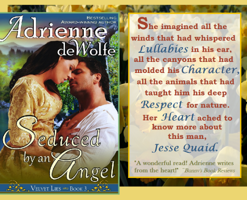 Seduced by an Angel, Adrienne deWolfe, Paranormal Romance, Western Romance, Victorian Romance