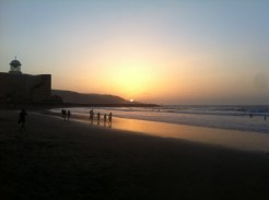 Sunset in Las Canteras, surf beach