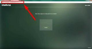 Imagem mostra a tela de login do roteador intelbrás através do endereço http://meuintelbras.local