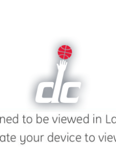 Landscape is the valid orientation also washington wizards virtual venue by iomedia rh media