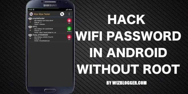 Hack Wifi And Crack Wifi Password From Android Easily