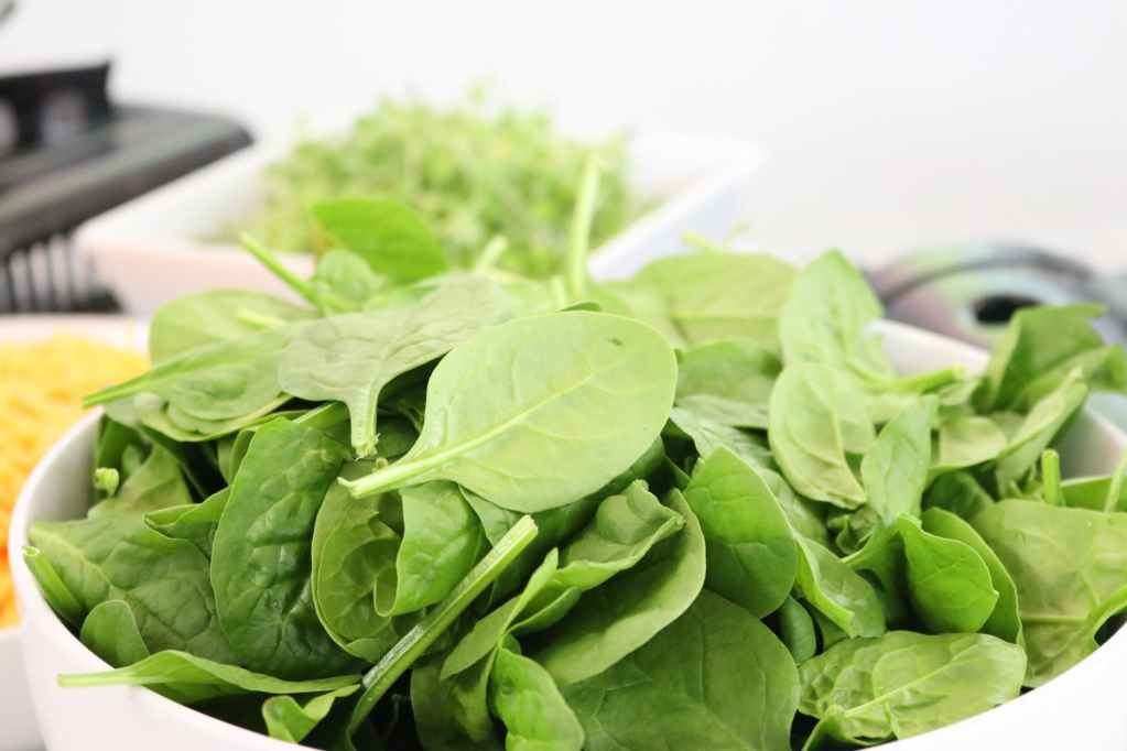 Green leafy vegetables like spinach