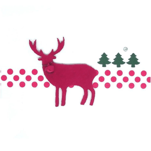 Christmas Reindeer & Trees Square Greeting Designs