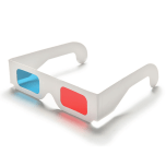 3D Anaglyph Red Cyan Glasses