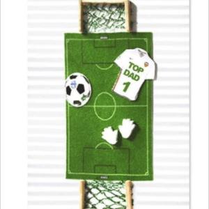 Sportz Football Pitch Greeting Card