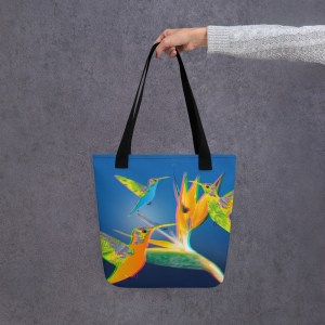 3D Humming Birds Tote Bag