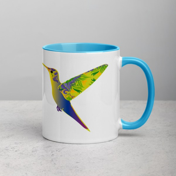 Mug White/Blue Humming Birds