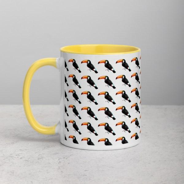 101 Toucans Yellow/White Mug