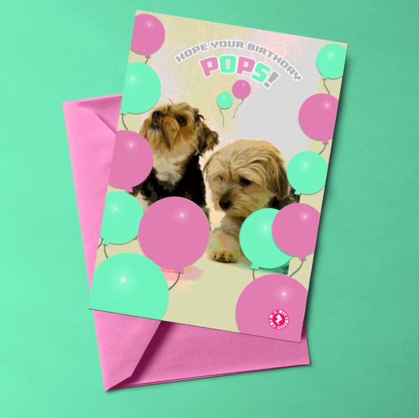 Birthday Pops AR Greeting Card
