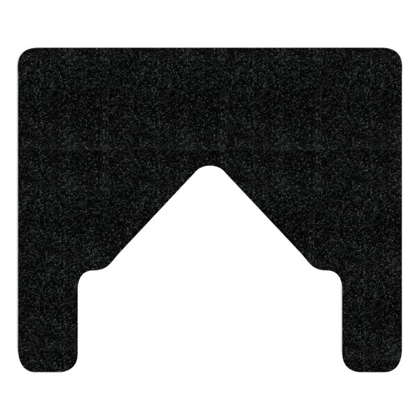 Black WizKid Antimicrobial Bull Nose Floor Mount Urinal Mat from WizKid Products