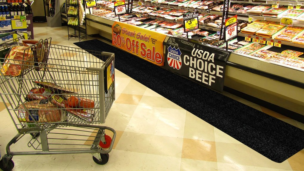 WizKid Products Antimicrobial Runner Mat In Grocery Meat Area