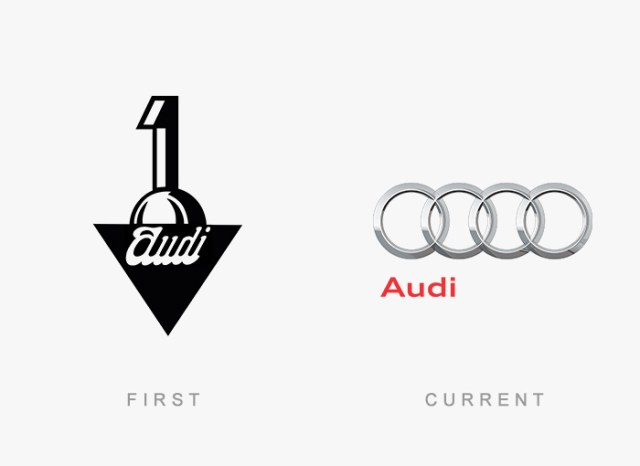 Audi old and new logo