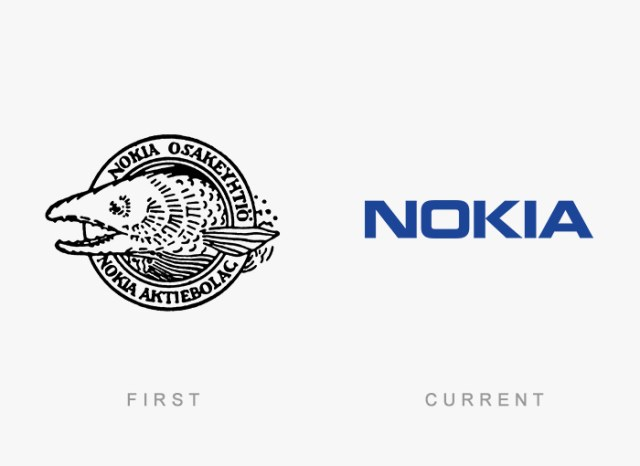 Nokia old and new logo