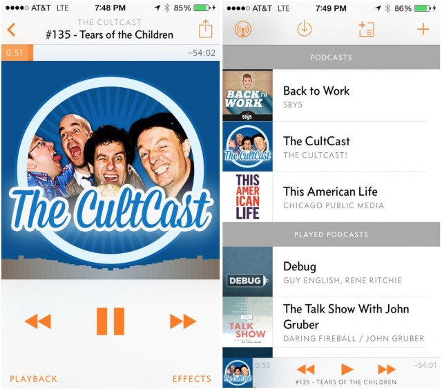 Overcast magically erases the pauses in podcasts so you can listen faster.