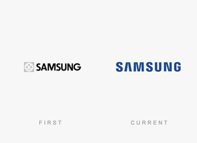 Samsung old and new logo