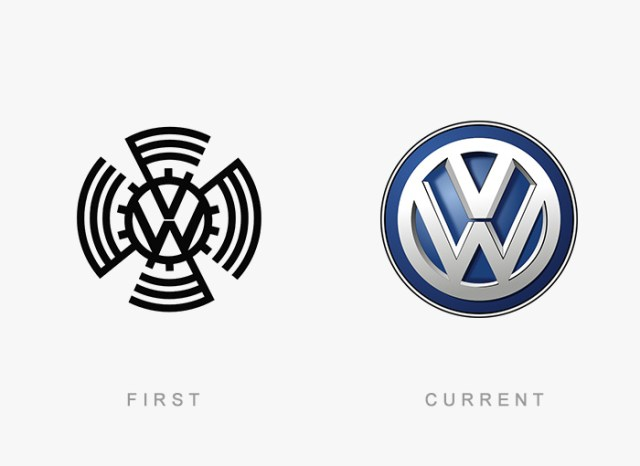 Volkswagen old and new logo