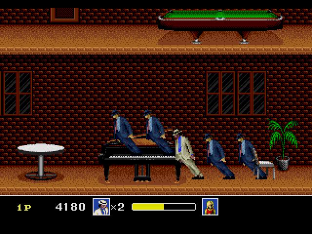 Michael Jackson's Moonwalker game