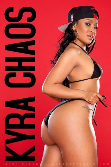 Kyra-Chaos-showing-off-her-phat-ass-in-a-sexy-black-bikini-in-her-shoot-wtih-Jose-Guerra