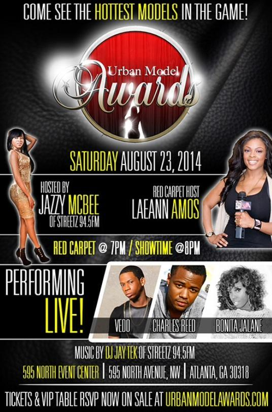 urban model awards 2014 atlanta GA flyer